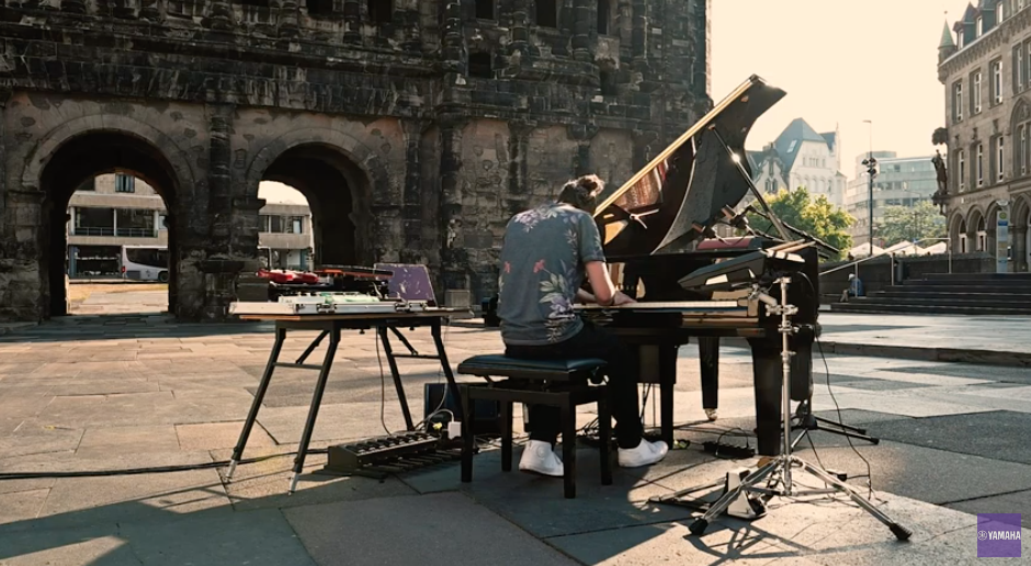 A Disklavier Jam in an Ancient Plaza